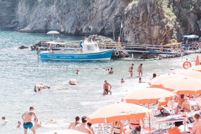 Party on the beach in Ravello
