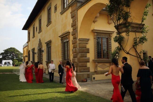 wedding party wedding villa florence