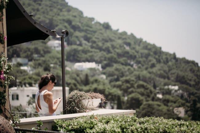 Wedding villa in Capri with terrace
