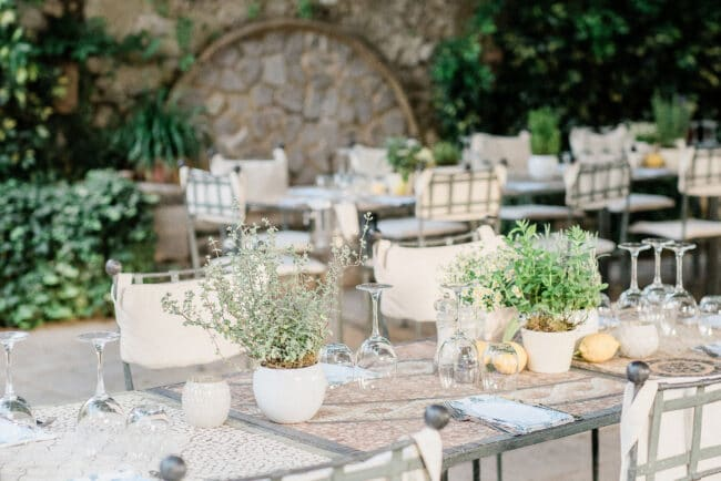 Welcome wedding dinner in Ravello