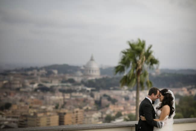 Romantic wedding in Rome