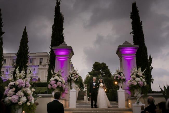 Bridal entrance in a lebanese wedding in Rome