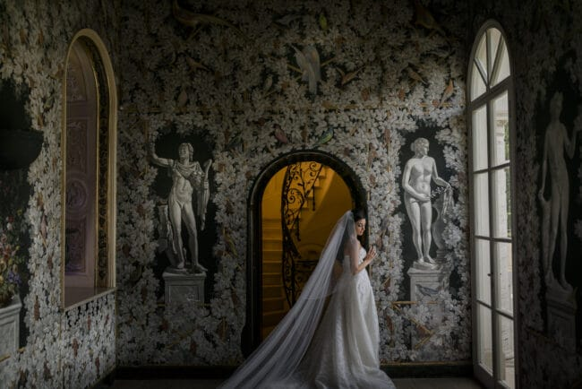 Bridal portrait in Rome