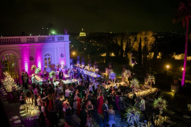 Terrace for weddings with view over Rome