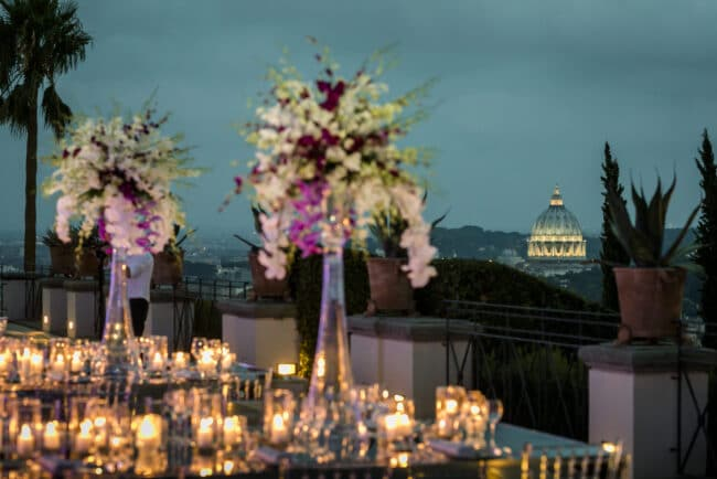 Wedding in Rome with view