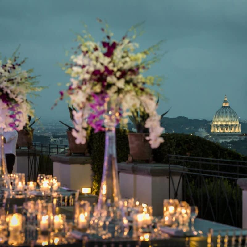 Luxury terrace for weddings in Rome