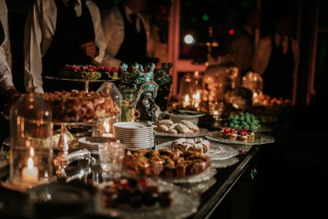 Typical sicilian wedding dessert buffet