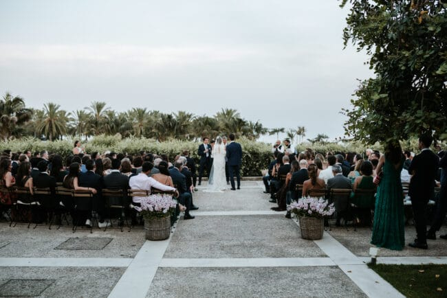 Romantic outdoor wedding ceremony in Sicily