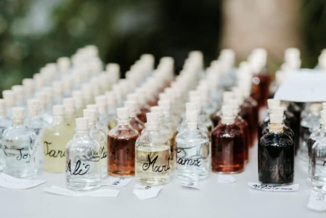 Favours for this wedding in Sicily