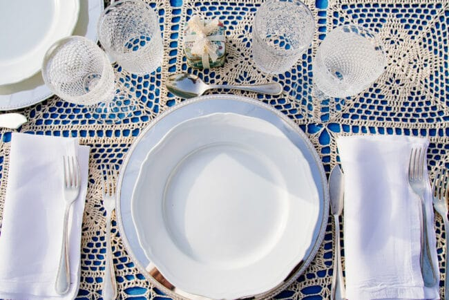 Typical sicilian table decor for wedding