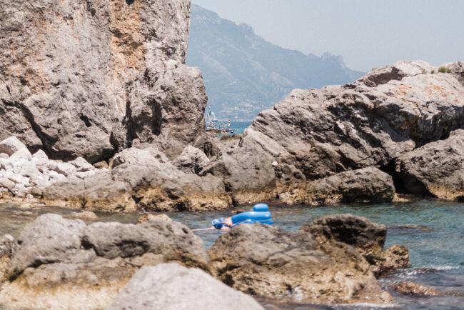 Beach view in Amalfi