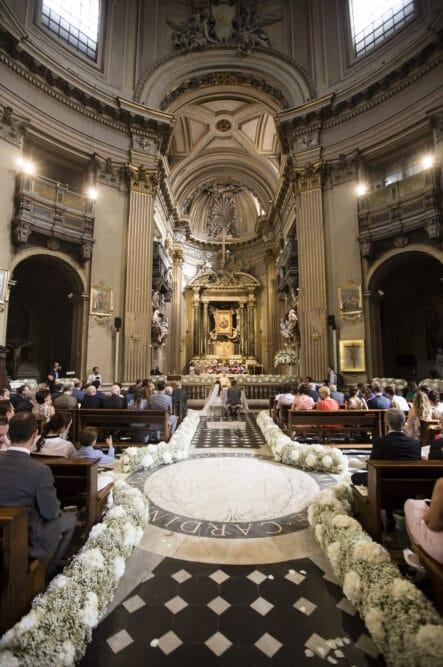 Interior of a beautiful church in Rome