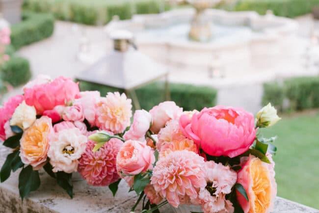 Beautiful flowers of a wedding venue
