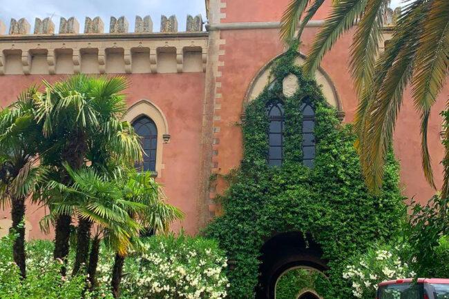 Castle view in a perfect sicilian context