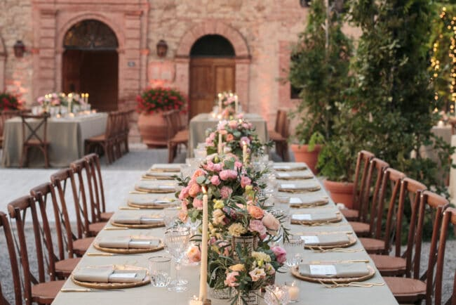 Enchanted tablesetting with location view