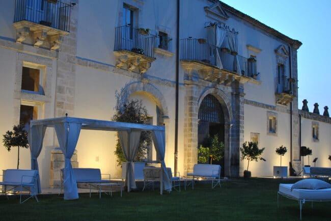 Garden at night in a Sicilian villa