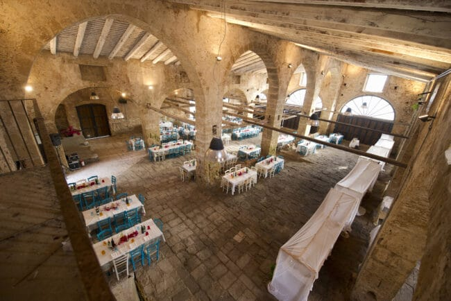Indoor space for the wedding dinner
