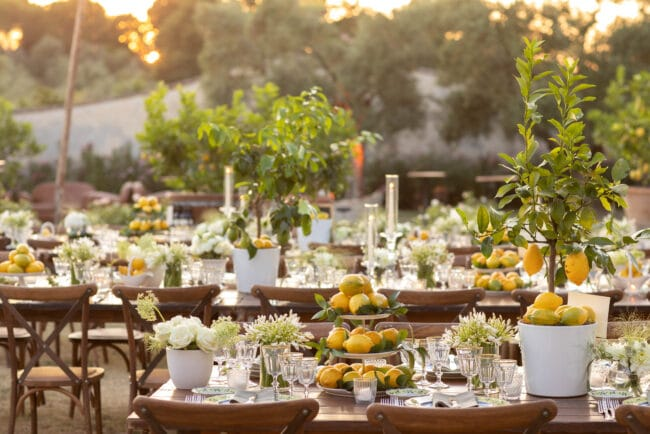 Lemons flowers country chich wedding