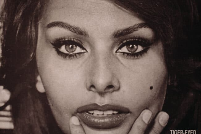 Mediterranean face woman dolce vita