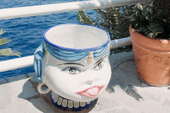 Mediterranean island view with details