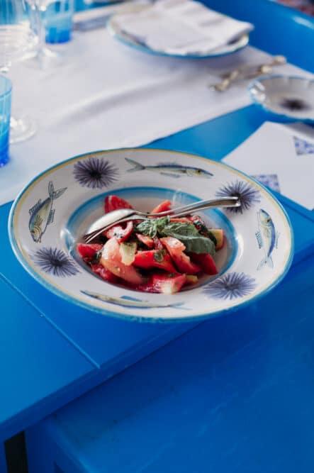 Particular mediterranean typical food