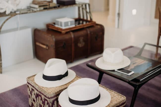 Perfect hat mediterranean wedding