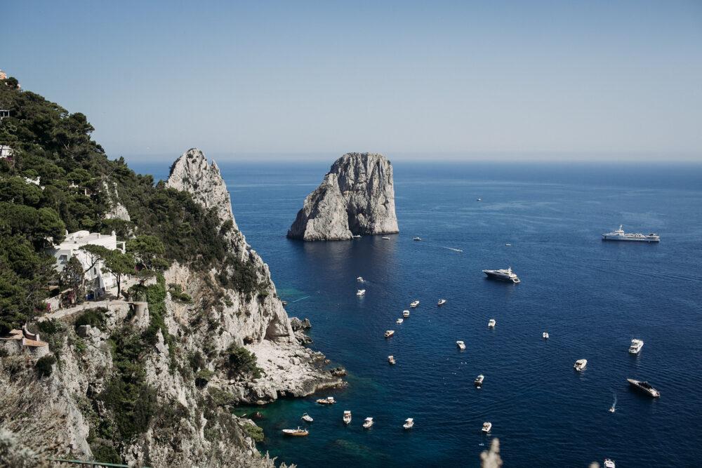 Typical faraglioni view Capri