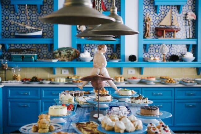 Typical mediterranean cuisine decor