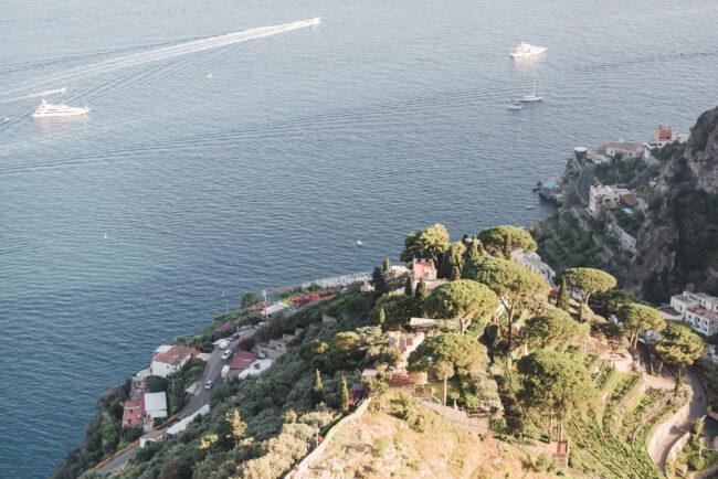 View with luxurious Amalfi Coast