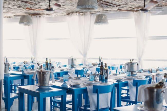 Wedding reception mediterranean island