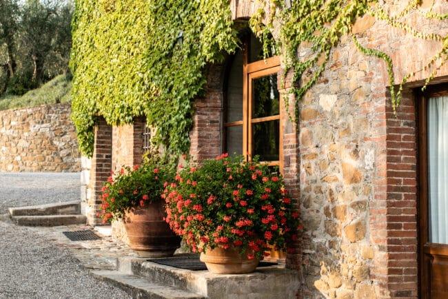 Detail of a luxury wine resort in Chianti