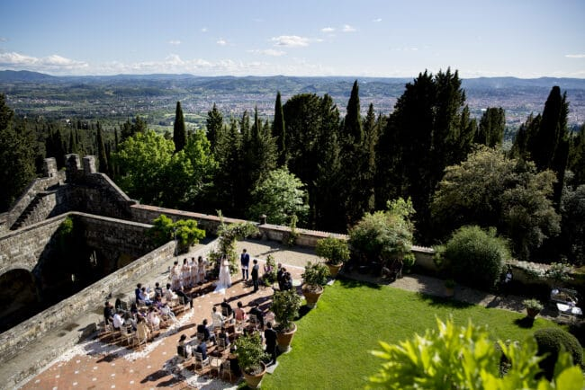 Outdoor ceremony Florence
