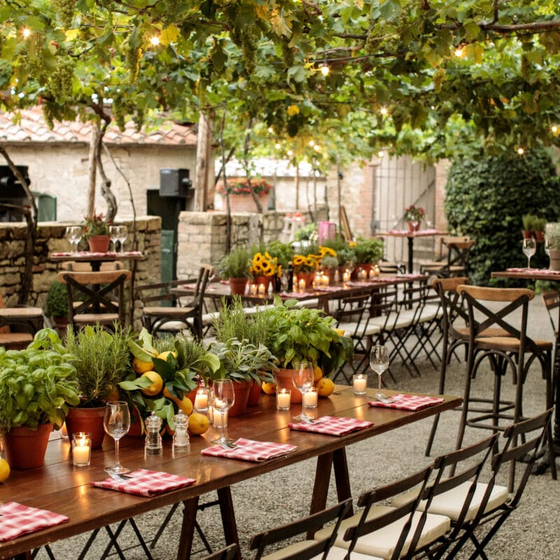 Rustic chic welcome wedding dinner