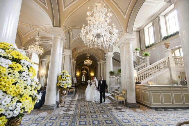 Bride entrance at Villa d'Este, Lake Como
