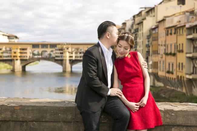 Romantic elopment Italy