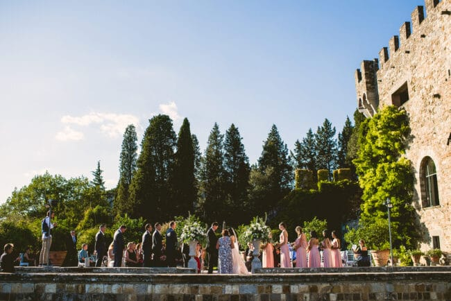 Wedding Castle in Tuscany - outdoor ceremony
