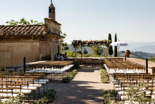 Jewish ceremony in Chianti villa in Tuscany