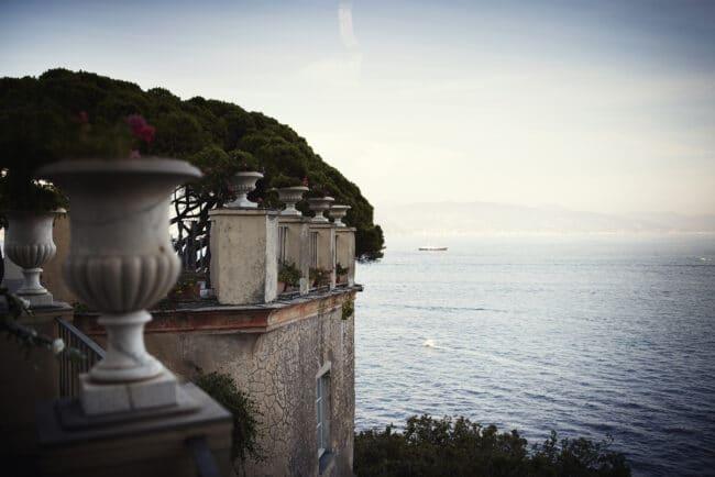 Terrace for a glamour ceremony in Portofino