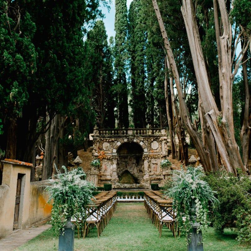 Garden of a luxury Wedding in Florence