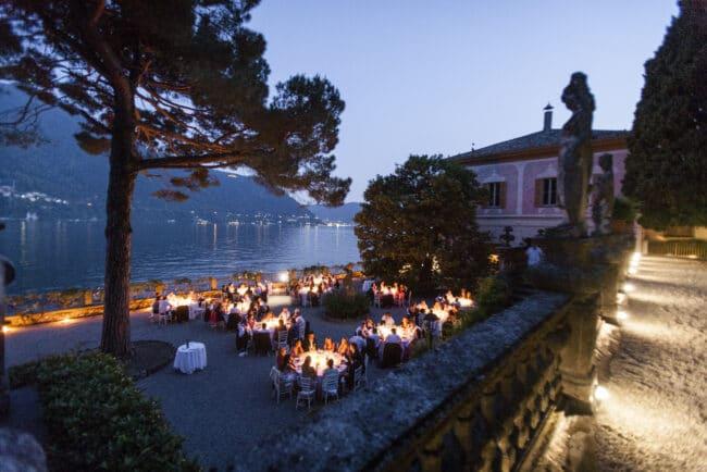 Villa Pizzo, outdoor dinner Como Lake