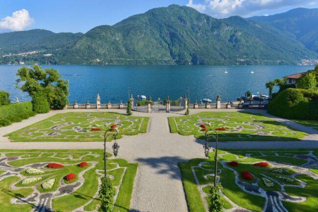 Romantic gardens on the Como Lake