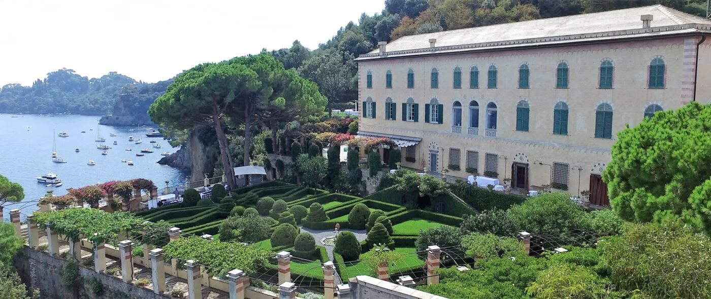 Luxury wedding villa in Portofino with italian garden with view