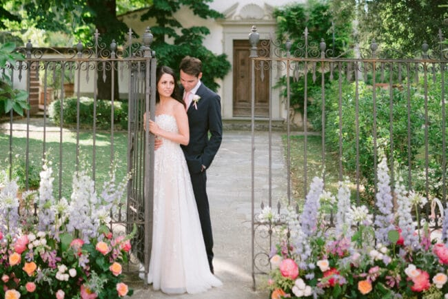Intimate romantic elopement in Tuscany