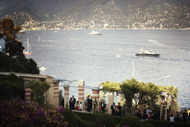 Italian Riviera wedding ceremony venue