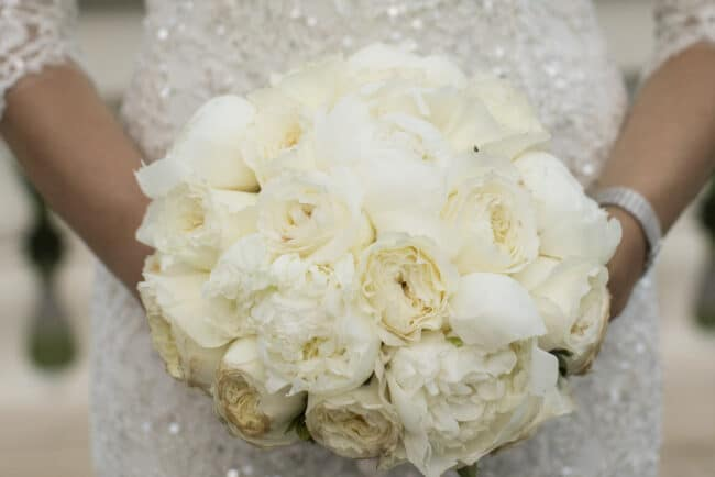 Romantic ivory wedding bouquet