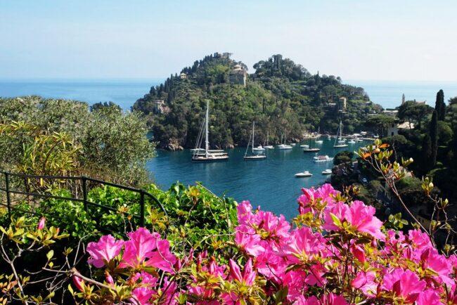 Portofino view from a luxury wedding venue