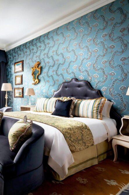 Luxury bedroom in a five stars hotel in Venice