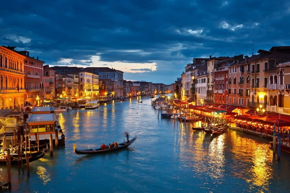 Grand Canal at the sunset