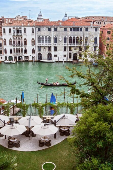 Garden with Grand Canal view in Venice