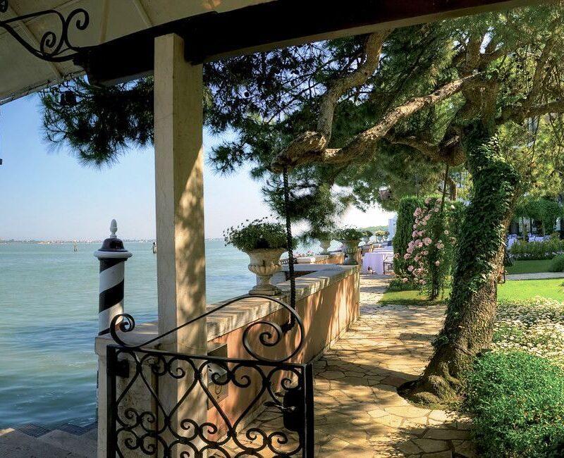 Wedding terrace in an exclusive hotel in Venice